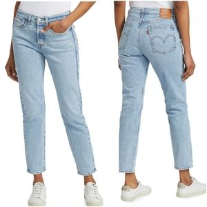 Levi's Wedgie high waisted tapered leg jeans light medium wash size 25